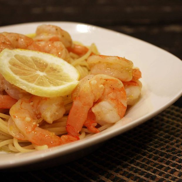 Roasted Lemon Garlic Herb Shrimp & Pasta