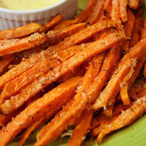 Sweet Potato Parmesan Fries & Garlic Aioli