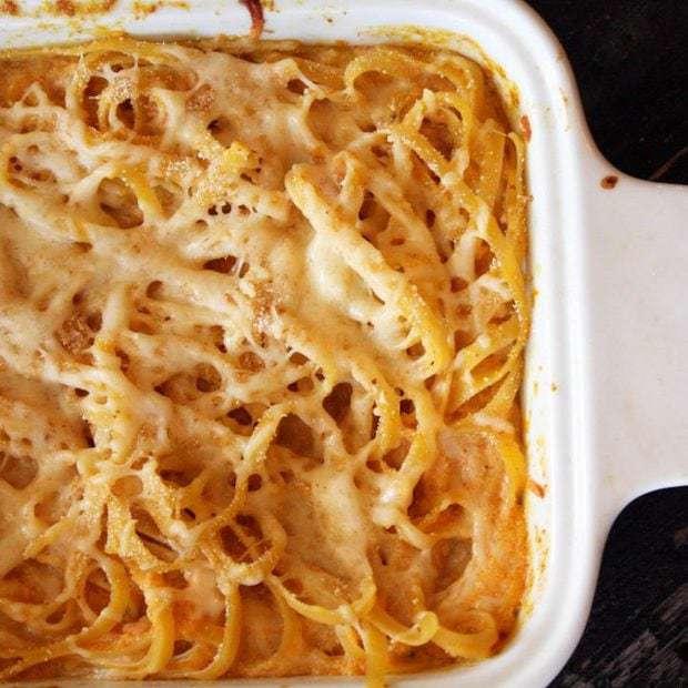 Baked Pumpkin Fettuccine Alfredo