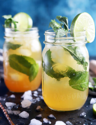Dirty mojito recipe in mason jars picture
