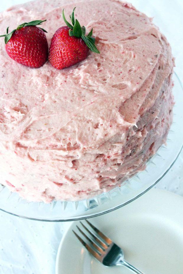 Chocolate Surprise Cake Strawberries
