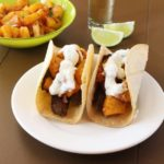 Tequila Lime Marinated Steak Tacos with Spicy Grilled Pineapple Salsa