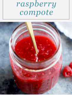 Smashed Raspberry Compote Pinterest Image