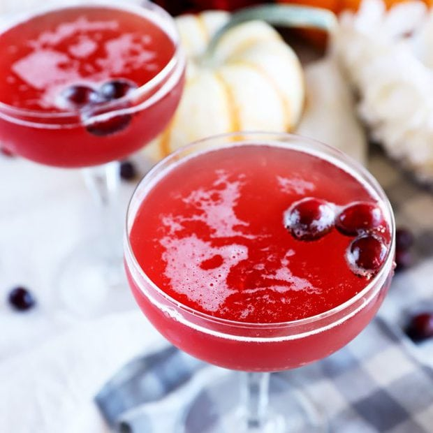 Side view of cranberry cocktail image