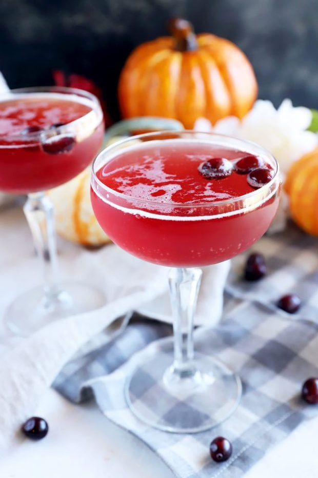 Thanksgiving cocktail in nice glass image