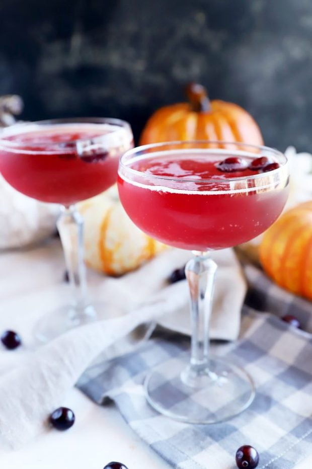 Cocktail for fall with cranberries image