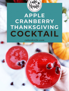 Sparkling Thanksgiving Cocktail Pinterest Image