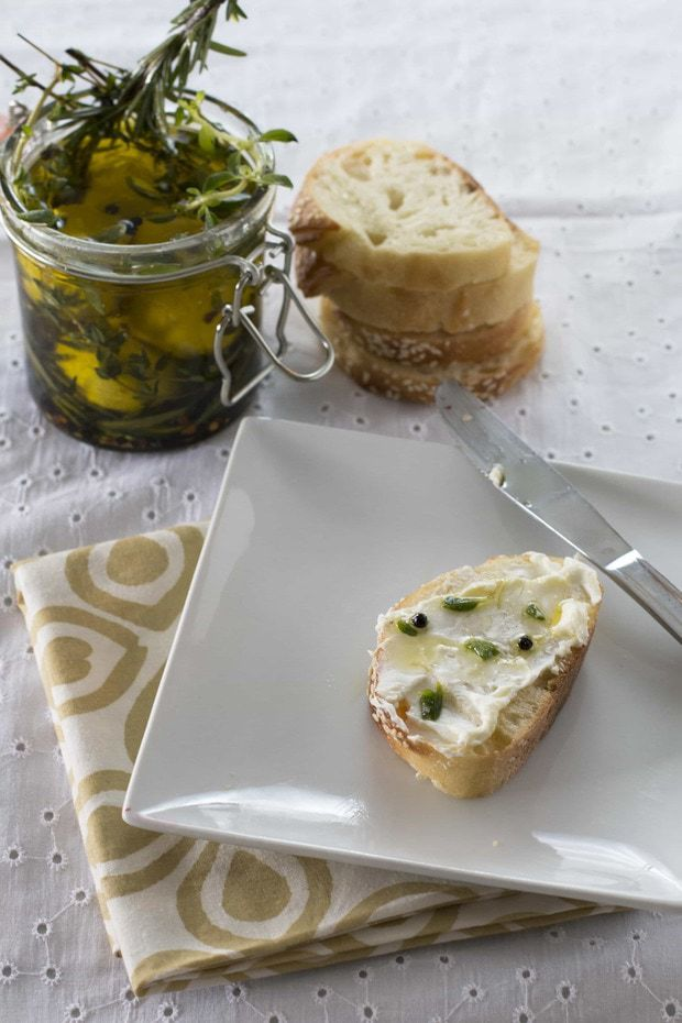 Marinated Goat Cheese – Cake 'n Knife