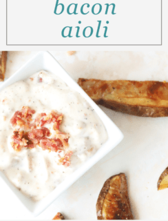 Bacon Aioli Pinterest Recipe Image