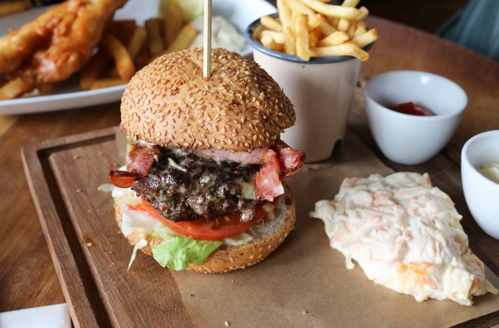 Epic burger from The Duke of Wellington Pub