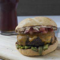 Roasted Poblano Cheeseburgers