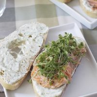 Salmon Sandwich with Creamy Dill Sauce