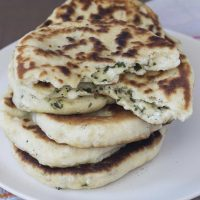 Homemade Cheese & Herb Stuffed Naan