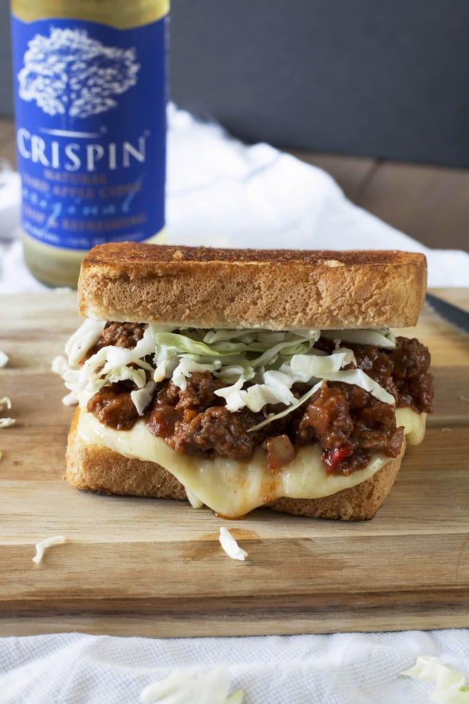 Sloppy Joe Grilled Cheese | cakenknife.com