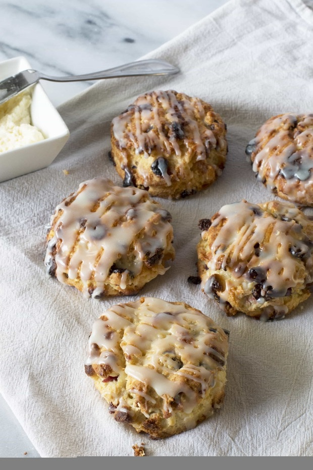 White Chocolate Scones With Cranberries
