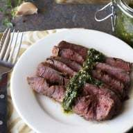 Flank Steak with Spicy Chimichurri
