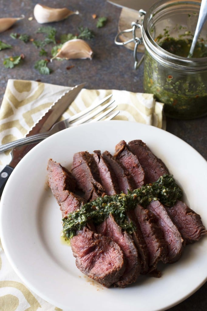 Flank Steak with Spicy Chimichurri 4