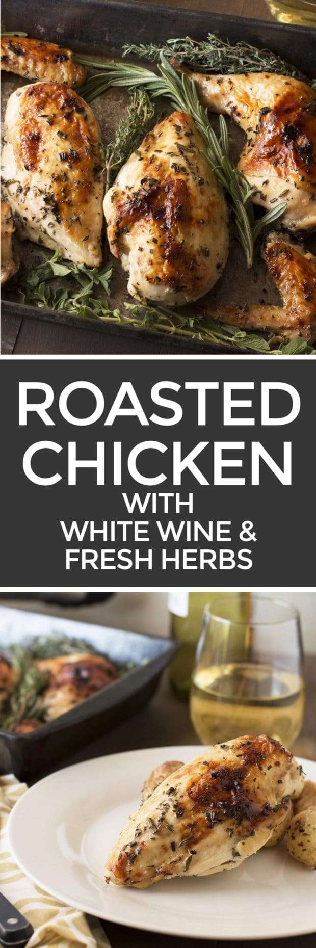 Roasted Chicken With White Wine Amp Fresh Herbs Cake N Knife