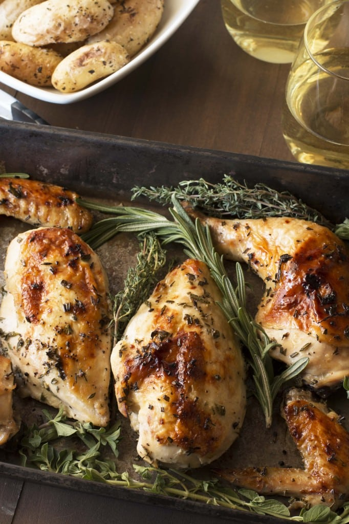Roasted Chicken and Herbs | cakenknife.com
