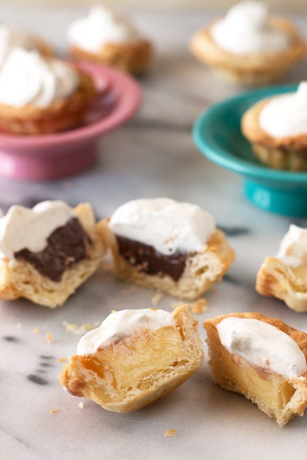 Mini Cream Pies with 3 fun flavors   cakenknife.com