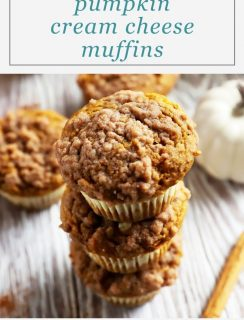 Pumpkin Cream Cheese Streusel Muffins Pinterest Image
