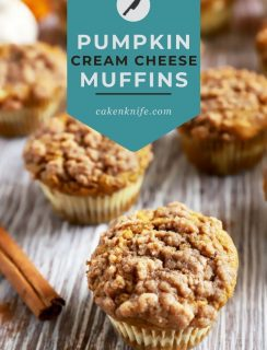 Pumpkin Cream Cheese Streusel Muffins Pinterest Graphic