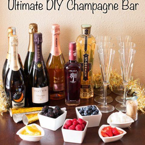 Ultimate DIY Champagne Bar