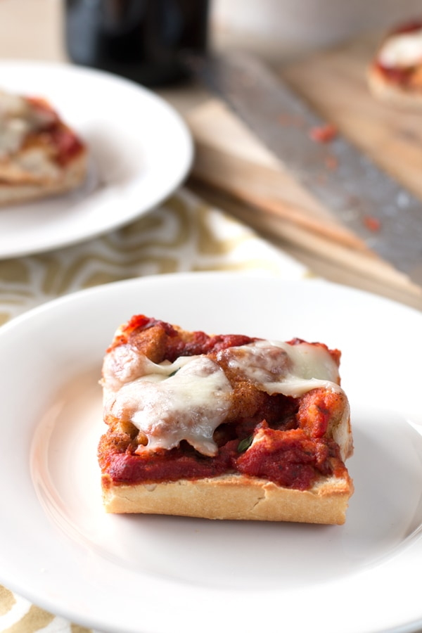 30 Minute Chicken Parmesan French Bread Pizza   cakenknife.com