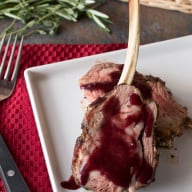 Herb Crusted Rack of Lamb with Red Wine Sauce | cakenknife.com