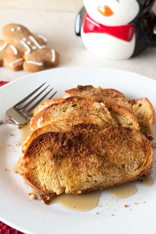 Overnight Gingerbread French Toast | cakenknife.com