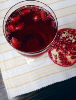 Guest Post with Feast + West: Pomegranate Bellinis   cakenknife.com