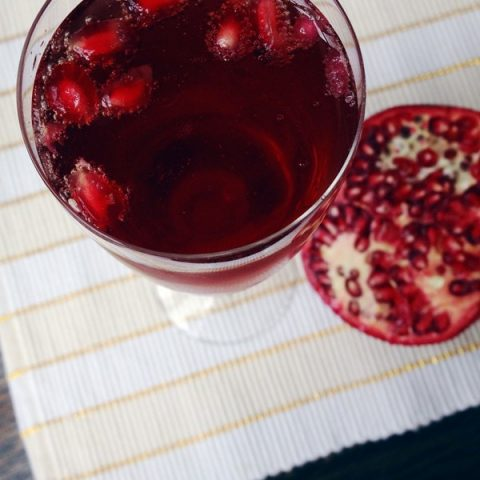 Guest Post with Feast + West: Pomegranate Bellinis | cakenknife.com