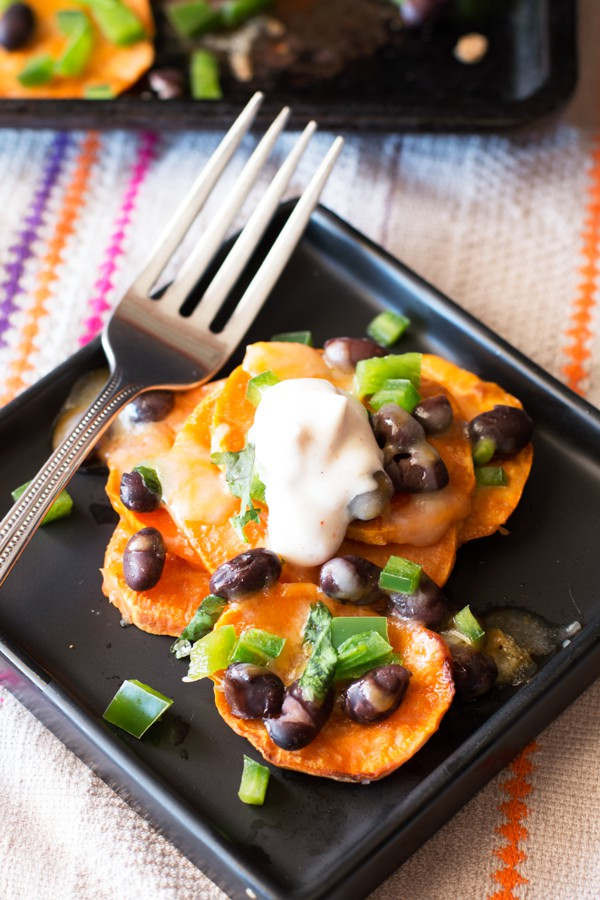 Loaded Sweet Potato Nachos | cakenknife.com