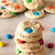 Soft Batch Mini M&M Cookies | cakenknife.com