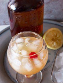 Sparkling Whiskey Sour | cakenknife.com