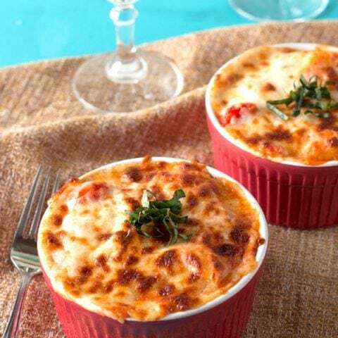 Baked Three Cheese Ricotta Gnocchi with Tomato