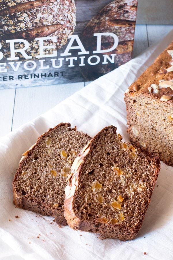 Bread Revolution Cookbook Review + Apricot Almond Spelt Quick Bread | cakenknife.com