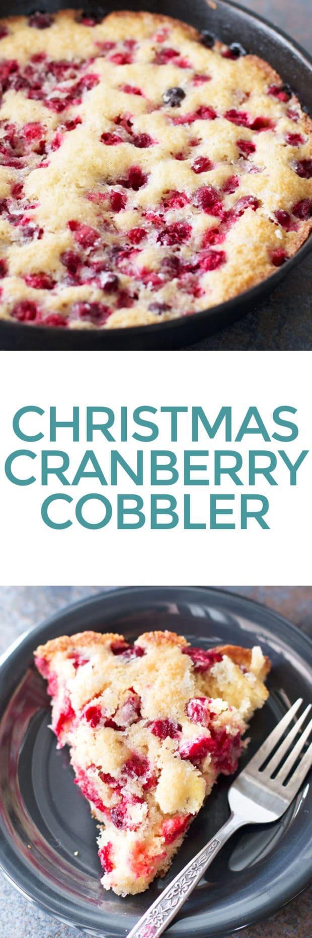 Christmas Cranberry Cobbler   cakenknife.com