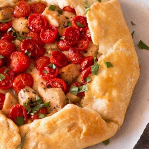 Savory Chicken Caprese Galette | cakenknife.com