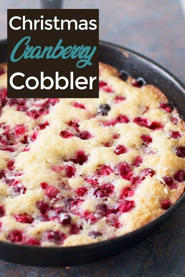 Christmas Cranberry Cobbler Pinterest image