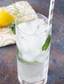 Fennel Lemon Vodka Fizz | cakenknife.com