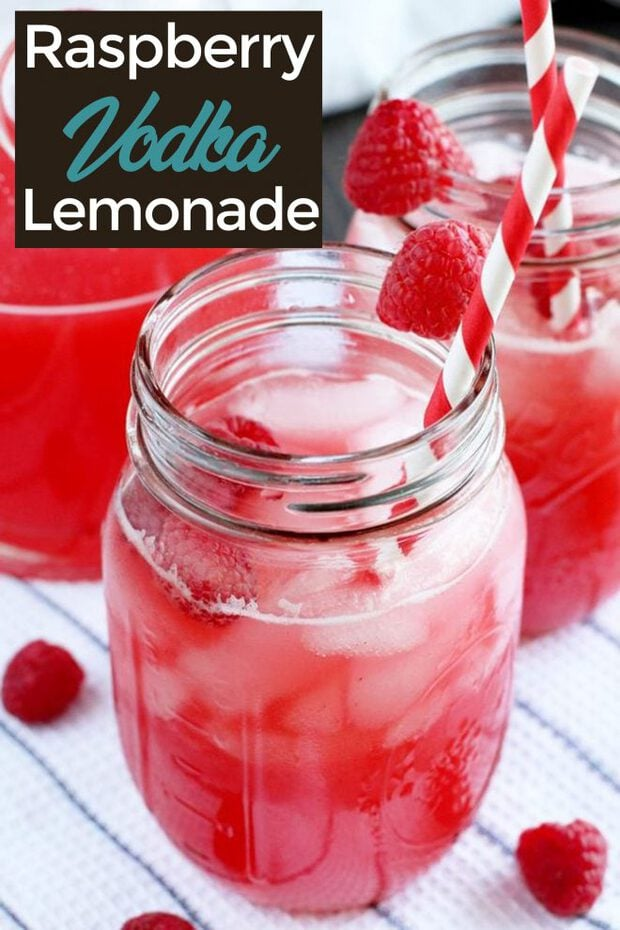 Raspberry vodka lemonade Pinterest image