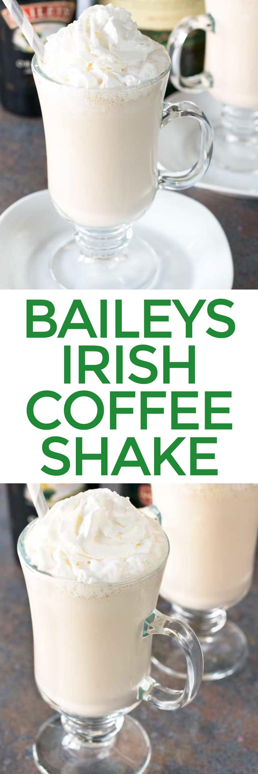 Bailey's Irish Coffee Shake | cakenknife.com #appetizer #beef #snack #stpatricksday