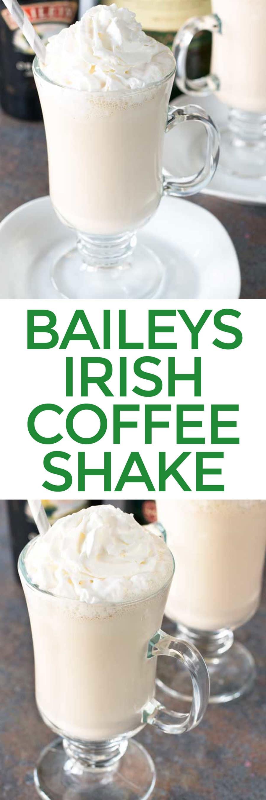 Bailey's Irish Coffee Shake   cakenknife.com #appetizer #beef #snack #stpatricksday