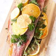 Roasted Citrus & Herb Red Snapper | cakenknfe.com