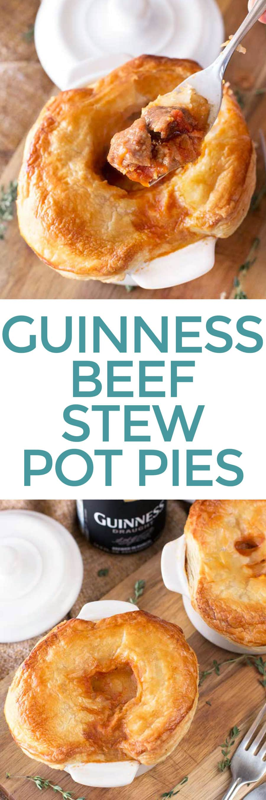 Guinness Beef Stew Pot Pies | cakenknife.com #appetizer #beef #snack #stpatricksday