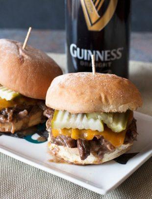Guinness Braised Short Rib Sliders   cakenknife.com