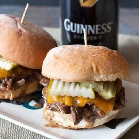 Guinness Braised Short Rib Sliders | cakenknife.com