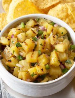 Grilled Pineapple Salsa   cakenknife.com