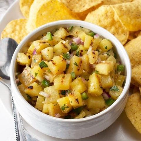 Grilled Pineapple Salsa | cakenknife.com